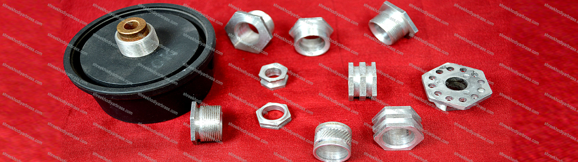 Aluminium Brass Mixer Grinder Parts Aluminium Hex Nut, Aluminium Square Nut, Aluminium Bend Ferrule, Aluminium Sensor Nut and Part